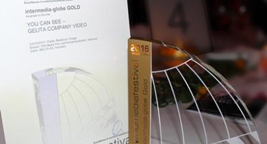 intermediate-globe award in Gold